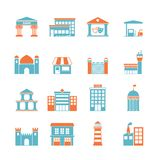 Government buildings icons Stock Photo
