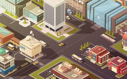 Government Buildings Isometric Illustration Royalty Free Stock Image