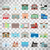 Government buildings on transparent background Royalty Free Stock Photos