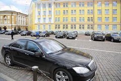 Government cars stand in Kremlin Royalty Free Stock Image