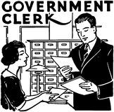 Government Clerk Stock Photo