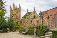 Government Cottage and Convict Church - Port Arthur Stock Photos