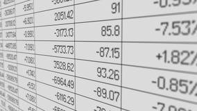 Government debt shown in financial statistics spreadsheet, economic crisis. Stock image Stock Photo