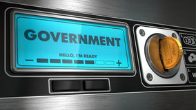 Government on Display of Vending Machine. Royalty Free Stock Images