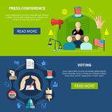 Government Elections Press Conference Concept Stock Photo