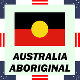 government elements of Australia - Aboriginal flag vector illustration