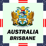 Government elements of Australia - Brisbane. Official government elements of Australia - Brisbane Royalty Free Stock Photo