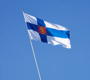 Government Flag of Finland Stock Images