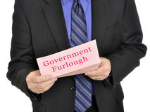 Government furlough. Government employee receiving furlough notice stock images