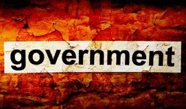 Government grunge concept. CLose up of Government grunge concept royalty free illustration