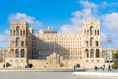 Government House of Azerbaijan Republic Royalty Free Stock Photos