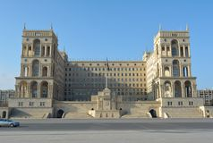 Government House in Baku, Azerbaijan Royalty Free Stock Image