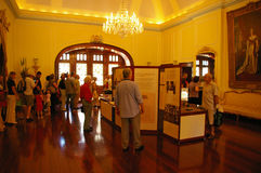 Government House Open Day 2009. Inside Government House in Adelaide, Australia on one of the rare open days with a large crowd lined up to visit the House even royalty free stock images