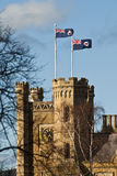 Government House and Vice Regal flag, Hobart, Tasm Stock Photos
