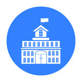Government icon. Single building icon from the big city infrastructure. Stock Image