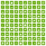 100 government icons set grunge green. 100 government icons set in grunge style green color isolated on white background vector illustration Stock Photo