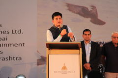 Government of India Minister Piyush Goyal. Piyush Goyal is the Minister of State with Independent Charge for Power, Coal, New and Renewable Energy and Mines in Royalty Free Stock Photography