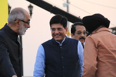 Government of India Minister Piyush Goyal. Piyush Goyal is the Minister of State with Independent Charge for Power, Coal, New and Renewable Energy and Mines in Stock Photos