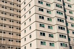 Government low cost and welfare accommodation apartment blocks close up. A close up of typical Australian housing estate run by the welfare department and used stock images