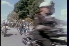 Government motorcade in South Africa stock footage