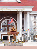 Government office in Vientiane, Laos Stock Photo