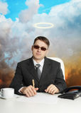 Government official - almost a god. A government official in the service - almost a god Royalty Free Stock Photo