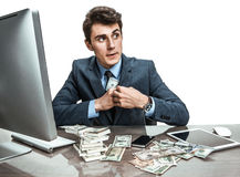Government official stealing money Royalty Free Stock Photography