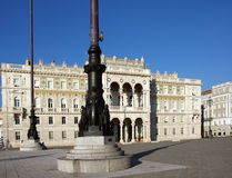 "Government Palace. Palazzo del governo (Government Palace) in Piazza Unità d'Italia (""Italian Unity Square""),Trieste,Italy Stock Image"