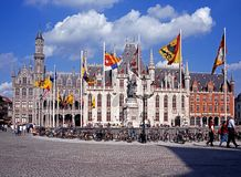 Government Palace, Bruges. Stock Photos