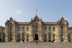 Government Palace Lima royalty free stock photo