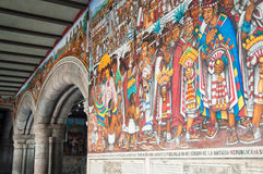Government Palace mural at Tlaxcala (Mexico) royalty free stock photography