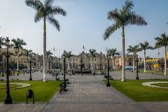 Government Palace of Peru at Plaza Mayor - Lima, Peru Stock Image