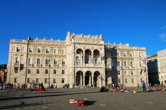 Government Palace on Piazza Unita d`Italia in Trieste, Italy Stock Photo