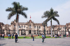 Government palace at Plaza de Armas Royalty Free Stock Photography