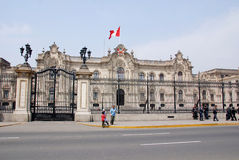 Government palace at Plaza de Armas Royalty Free Stock Images