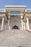 Government Palace Ulanbaatar. Statue of Genghis Khan's at the Government Palace Stock Photography
