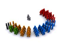 Government party political groups. Image of a governmental structure royalty free illustration