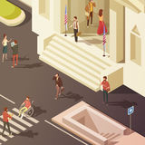 Government People Isometric Illustration Royalty Free Stock Image
