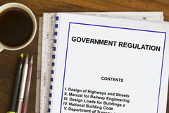 Government Regulations and Code. Requirement- many uses in the industry market stock image