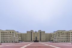 Government of the Republic of Belarus. One of few buildings built in Minsk and remained after World War II, Belarus royalty free stock images