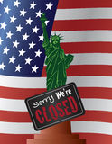 Government Shutdown Statue of Liberty Illustration Stock Image
