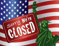 Government Shutdown Statue of Liberty Stock Images