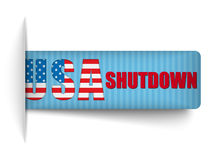 Government Shutdown USA Closed Banners. Royalty Free Stock Photography