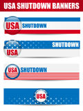 Government Shutdown USA Closed Banners. Stock Image