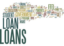 Government Student Loans The Easy Way To Get A Student Loan Text Background  Word Cloud Concept Stock Photo