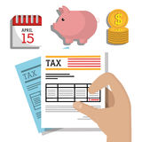 Government taxes payment  Stock Photo