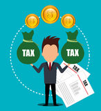 Government taxes payment  Royalty Free Stock Image