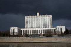Government White House of the Russian Federation in Moscow Stock Photos