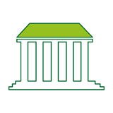 Governmental building isolated icon vector illustration