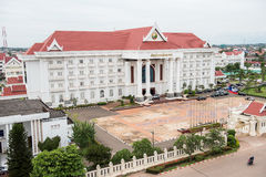 Governmental Building in Vientiane. Laos Government building in Vientiane. It's close to the Patuxai War memorial commemorating independence. This building is Stock Image